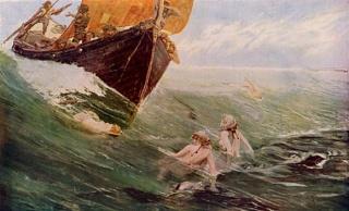 The-Mermaids-Rock-by-Edward-Hale,-1894